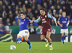 Dennis Praet of Leicester City holds off Jack Grealish of Aston Villa during the Carabao Cup match at the King Power Stadium, Leicester. Picture date: 8th January 2020. Picture credit should read: Darren Staples/Sportimage