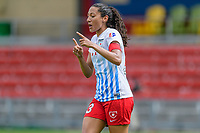 Bridgeview, IL - Saturday July 22, 2017: Christen Press during a regular season National Women's Soccer League (NWSL) match between the Chicago Red Stars and the Orlando Pride at Toyota Park. The Red Stars won 2-1.