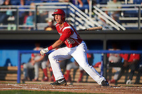 Batavia Muckdogs first baseman Eric Fisher (29) at bat during a game against the Williamsport Crosscutters on July 15, 2015 at Dwyer Stadium in Batavia, New York.  Williamsport defeated Batavia 6-5.  (Mike Janes/Four Seam Images)