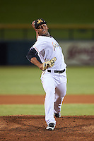 Mesa Solar Sox pitcher Jarlin Garcia (38), of the Miami Marlins organization, during a game against the Salt River Rafters on October 22, 2016 at Sloan Park in Mesa, Arizona.  Salt River defeated Mesa 7-2.  (Mike Janes/Four Seam Images)
