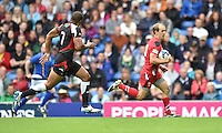 Wales's Lee Williams breaks forward before scoring his sides second try<br /> <br /> Kenya Vs Wales - men's placing 5-8 match<br /> <br /> Photographer Chris Vaughan/CameraSport<br /> <br /> 20th Commonwealth Games - Day 4 - Sunday 27th July 2014 - Rugby Sevens - Ibrox Stadium - Glasgow - UK<br /> <br /> © CameraSport - 43 Linden Ave. Countesthorpe. Leicester. England. LE8 5PG - Tel: +44 (0) 116 277 4147 - admin@camerasport.com - www.camerasport.com
