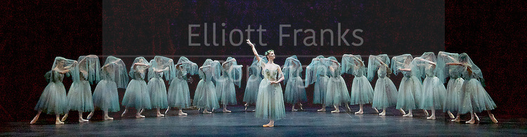 Giselle <br /> English National Ballet at The London Coliseum, London, Great Britain <br /> rehearsal <br /> 10th January 2017 <br /> <br /> <br /> <br /> Laurretta Summerscales as Myrtha Queen of the Wilis <br /> <br /> <br /> Photograph by Elliott Franks <br /> Image licensed to Elliott Franks Photography Services