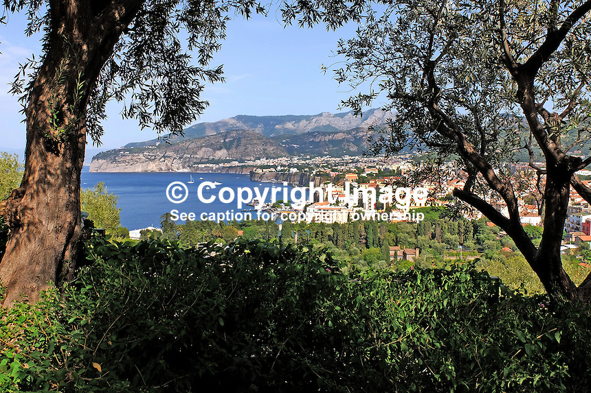 GV, general view, Sorrento, Italy, from rooftop, garden, Hotel Bristol, September, 2015, 201509161574<br />