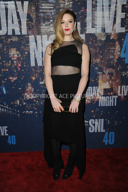 WWW.ACEPIXS.COM<br /> February 15, 2015 New York City<br /> <br /> Natasha Lyonne walking the red carpet at the SNL 40th Anniversary Special at 30 Rockefeller Plaza on February 15, 2015 in New York City.<br /> <br /> Please byline: Kristin Callahan/AcePictures<br /> <br /> ACEPIXS.COM<br /> <br /> Tel: (646) 769 0430<br /> e-mail: info@acepixs.com<br /> web: http://www.acepixs.com