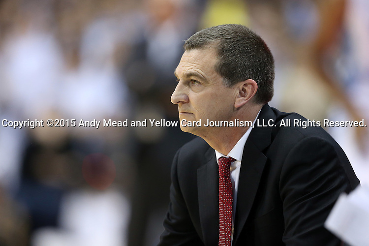 01 December 2015: Maryland head coach Mark Turgeon. The University of North Carolina Tar Heels hosted the University of Maryland Terrapins at the Dean E. Smith Center in Chapel Hill, North Carolina in a 2015-16 NCAA Division I Men's Basketball game. UNC won the game 89-81.