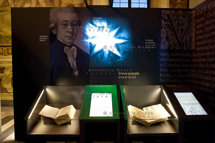 """La mostra sui segreti del Vaticano """"Lux in arcana"""", apre nei Musei Capitolini. Un evento storico senza precedenti con 100 documenti originali provenienti dall'archivio Segreto Vaticano..""""Lux in Arcana – The Vatican Secret Archives Reveals Itself"""" exhibition, opens in the splendid halls of Rome's Capitoline Museums. An unprecedent cultural and media event: 100 original documents, preserved for 400 years in the papal archives, have crossed the boundaries of Vatican City for the first time ever, in order to be put on display at the Capitoline Museums in Rome."""