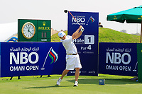 Richard Sterne (RSA) during previews ahead of the first round of the NBO Open played at Al Mouj Golf, Muscat, Sultanate of Oman. <br /> 14/02/2018.<br /> Picture: Golffile | Phil Inglis<br /> <br /> <br /> All photo usage must carry mandatory copyright credit (&copy; Golffile | Phil Inglis)