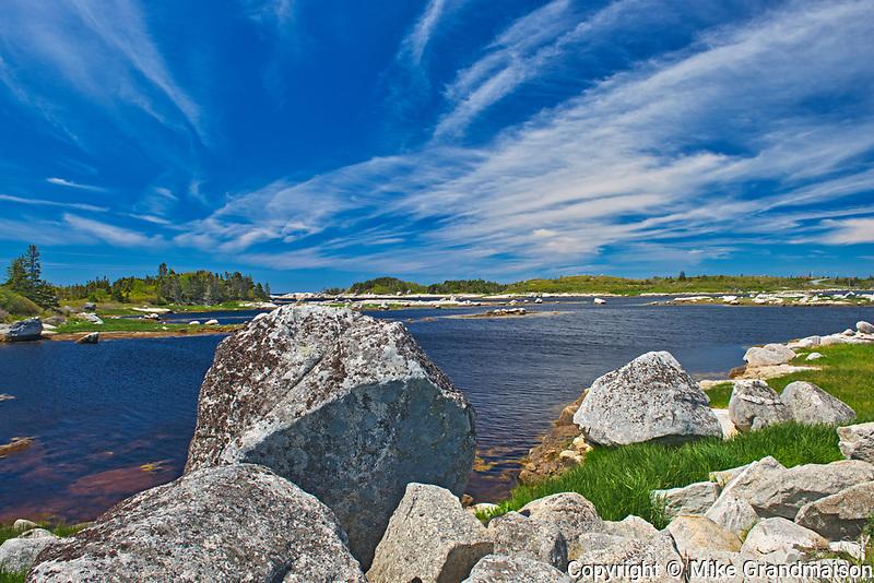 Rocky landscape, Peggy's Cove, Nova Scotia, Canada
