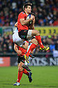 Ulster's Louis Ludik clashes with Racing 92's Olivier Klemenczak during the second half at the Kingspan Stadium, Belfast, Northern Ireland, 12 Jan 2019. Photo/Paul McErlane