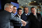 Presentation of Philippe Coutinho as New Player of the FC Barcelona.<br /> Javier Bordas, Jordi Mestres, Josep M. Bartomeu, Philippe Coutinho, Pep Segura &amp; Robert Fernandez.