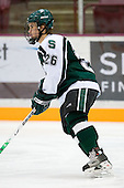 Kurt Kivisto (Michigan State - Milford, MI) warms up. The University of Minnesota Golden Gophers defeated the Michigan State University Spartans 5-4 on Friday, November 24, 2006 at Mariucci Arena in Minneapolis, Minnesota, as part of the College Hockey Showcase.