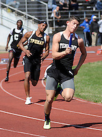 BENSALEM, PA - APRIL 12: William Tennent's Nik Banks competes in the Sprint Medley during Bensalem Invitational boys track and field meet at Bensalem High School April 12, 2014 in Bensalem Pennsylvania. (Photo by William Thomas Cain/Cain Images)