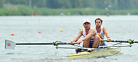 Amsterdam, NETHERLANDSS, GBR BM2-. Bow. George NASH and Constantine LOULOUDIS.  2011 FISA U23 World Rowing Championships, {dow], {date} [Mandatory credit:  Intersport Images].