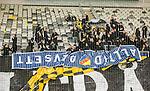 ***BETALBILD***  <br /> Stockholm 2015-05-25 Fotboll Allsvenskan Djurg&aring;rdens IF - AIK :  <br /> AIK:s supportrar har tagit en banderoll fr&aring;n Djurg&aring;rdens supportrar efter matchen mellan Djurg&aring;rdens IF och AIK <br /> (Foto: Kenta J&ouml;nsson) Nyckelord:  Fotboll Allsvenskan Djurg&aring;rden DIF Tele2 Arena AIK Gnaget supporter fans publik supporters