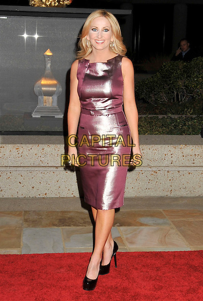 LEE ANN WOMACK.BMI's 56th Annual Country Awards held at BMI Music Row, Nashville, Tennessee, USA..November 11th, 2008.full length purple metallic sleeveless dress .CAP/ADM/LF.©Laura Farr/AdMedia/Capital Pictures.