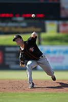 Delmarva Shorebirds starting pitcher Zach Muckenhirn (35) delivers a pitch to the plate against the Kannapolis Intimidators at Kannapolis Intimidators Stadium on July 2, 2017 in Kannapolis, North Carolina.  The Shorebirds defeated the Intimidators 5-4.  (Brian Westerholt/Four Seam Images)