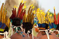 XI Jogos indígenas.<br /> Porto Nacional, Tocantins, Brasil.<br /> Foto Paulo Santos.<br /> 11/11/2011.<br /> <br /> XI Jogos dos Povos Indígenas -    Índios Pareci  do Mato Grosso mostram a prática do tihimore jogado entre homens e mulheres na comunidade.<br /> <br /> O evento, que acontece entre os dias 5 e 12 de novembro, tem como sede o município tocantinense de Porto Nacional, que fica a cerca de 60km da capital, Palmas. São sete dias de competições e apresentações culturais, com a participação de cerca de 1.300 indígenas, de aproximadamente 35 etnias, vindas de todas as regiões do país. São esperados ainda líderes e observadores indígenas de outros países (Argentina, Austrália, Bolívia, Canadá, Equador, EUA, Guiana Francesa, Peru e Venezuela). Foto Paulo Santos10/11/2011Ilha de Porto Real, Porto Nacional, Brasil