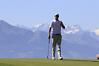 Nicolas Colsaerts (BEL) putts on the 7th green during Saturday's Round 3 of the 2018 Omega European Masters, held at the Golf Club Crans-Sur-Sierre, Crans Montana, Switzerland. 8th September 2018.<br /> Picture: Eoin Clarke | Golffile<br /> <br /> <br /> All photos usage must carry mandatory copyright credit (&copy; Golffile | Eoin Clarke)