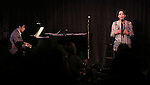 Seth Rudetsky and Judy Kuhn performing at the Seth Rudetsky Book Launch Party for 'Seth's Broadway Diary' at Don't Tell Mama Cabaret on October 22, 2014 in New York City.