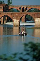 Europe/France/Midi-Pyrénées/81/Tarn/Albi: Promenade en gabarre et pont vieux et pont neuf