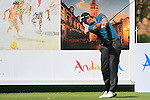 Nicolas Colsaerts (BEL) in action on the 16th tee during Day 1 Thursday of the Open de Andalucia de Golf at Parador Golf Club Malaga 24th March 2011. (Photo Eoin Clarke/Golffile 2011)