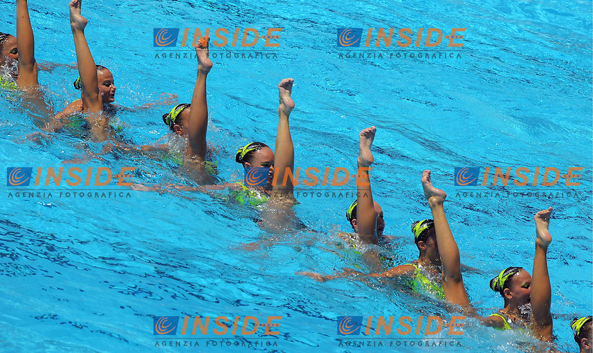 13th Fina World Championships From 17th to 2nd August 2009..Roma 18 07 2009..Sincronizzato team tecnico ..Russia