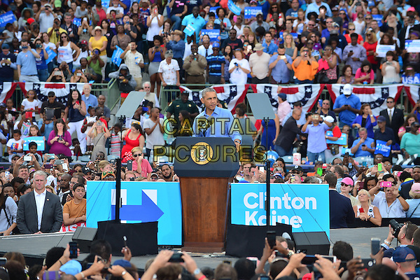 KISSIMMEE, FL - NOVEMBER 06: President Barack Obama Campaign for Hillary Clinton to a crowd of 11,000 supporters join by Award-Winning Artist Stevie Wonder at Osceola County Stadium on Sunday, November 6, 2016 in Kissimmee, Florida. President Obama continued to stomp for Hillary with two day left to the election. <br /> CAP/MPI10<br /> &copy;MPI10/Capital Pictures