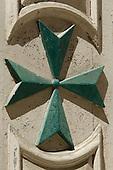 Wooden Maltese Cross on Church Door