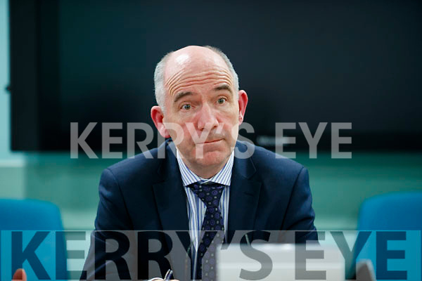 Fearghal Grimes, (General Manager University Hospital Kerry) at a press conference at University Hospital Kerry on Monday.