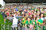 Kerry Senior footballers at Kerry GAA family day at Fitzgerald Stadium on Saturday.