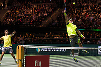 Rotterdam, The Netherlands, 17 Februari, 2018, ABNAMRO World Tennis Tournament, Ahoy, Tennis, Semi final double, Horia Tecau (ROU) / Jean-Julien Rojer (NED), Mate Pavic (CRO) / Oliver Marach (AUT)<br /> <br /> Photo: www.tennisimages.com