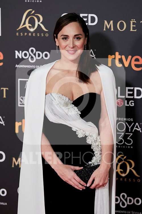 Tamara Falco attends to 33rd Goya Awards at Fibes - Conference and Exhibition  in Seville, Spain. February 02, 2019. (ALTERPHOTOS/A. Perez Meca)