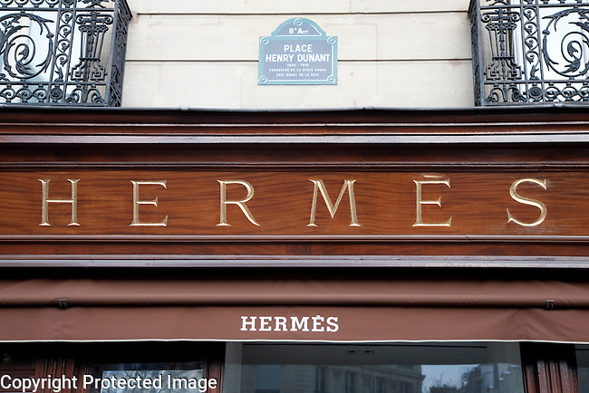 Hermes Fashion Clothes Shop in Paris, France