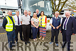 Tim Dennehy from Castlegregory retiring after 27 years of dedicated road service to the schools in Bus Eireann, pictured with his colleagues at the Bust Station in Tralee on Friday.<br /> Front l to r: Tim Dennehy and Tim Collins. <br /> Back l to r: Ciaran Murphy, Mike Tyther, Mike Moloney, Brenda Kirby, Jerry Quinlan, Miriam Flynn and John Griffin.