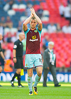 Burnley Chris Wood  after  the Premier League match between Tottenham Hotspur and Burnley at White Hart Lane, London, England on 27 August 2017. Photo by Andrew Aleksiejczuk / PRiME Media Images.