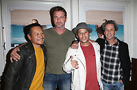 SANTA MONICA, CA - NOVEMBER 1: Takuji Masuda, Gerard Butler, Christian Hosoi, Brian Grazer, at the Los Angeles Premiere of documentary Bunker77 at the Aero Theater in Santa Monica, California on November 1, 2017. Credit: Faye Sadou/MediaPunch /NortePhoto.com