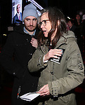Samuel Greisman and Sally Field attend The Ghostlight Project to light a light and make a pledge to stand for and protect the values of inclusion, participation, and compassion for everyone - regardless of race, class, religion, country of origin, immigration status, (dis)ability, gender identity, or sexual orientation at The TKTS Stairs on January 19, 2017 in New York City.