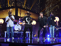NASHVILLE, TN - JUNE 5:  Boyz II Men and Brett Young performs on the 2019 CMT Music Awards at Bridgestone Arena on June 5, 2019 in Nashville, Tennessee. (Photo by Frank Micelotta/PictureGroup)