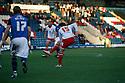 Luke Freeman of Stevenage scores their first goal.Rochdale v Stevenage - npower League 1 - Spotland, Rochdale - 14th January, 2012.© Kevin Coleman 2012