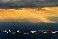 Tanana river winds through the Tanana Valley Flats near Fairbanks, Alaska.