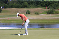 Lucas Bjeregaard (DEN) putts on the 16th green during Saturday's Round 3 of the Porsche European Open 2018 held at Green Eagle Golf Courses, Hamburg Germany. 28th July 2018.<br /> Picture: Eoin Clarke | Golffile<br /> <br /> <br /> All photos usage must carry mandatory copyright credit (&copy; Golffile | Eoin Clarke)