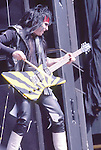 Mick Mars Motley Crue  at Castle Donnington , England Aug 1984 Donnington Monsters of Rock 1984 Donnington 1984