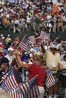 Fans show their colours during the opening ceremony on Practice Day2 of the Ryder Cup at Valhalla Golf Club, Louisville, Kentucky, USA, 18th September 2008 (Photo by Eoin Clarke/GOLFFILE)