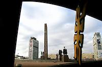 San Pietroburgo: un obelisco che celebra la vittoria nella seconda guerra mondiale della armata russa