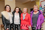 Fight Night : Pictured at the Fight Night held at the Listowel Community Centre on Friday night last were Katie Culhane, Katie & Mary Scannell & Brenda O'Halloran.
