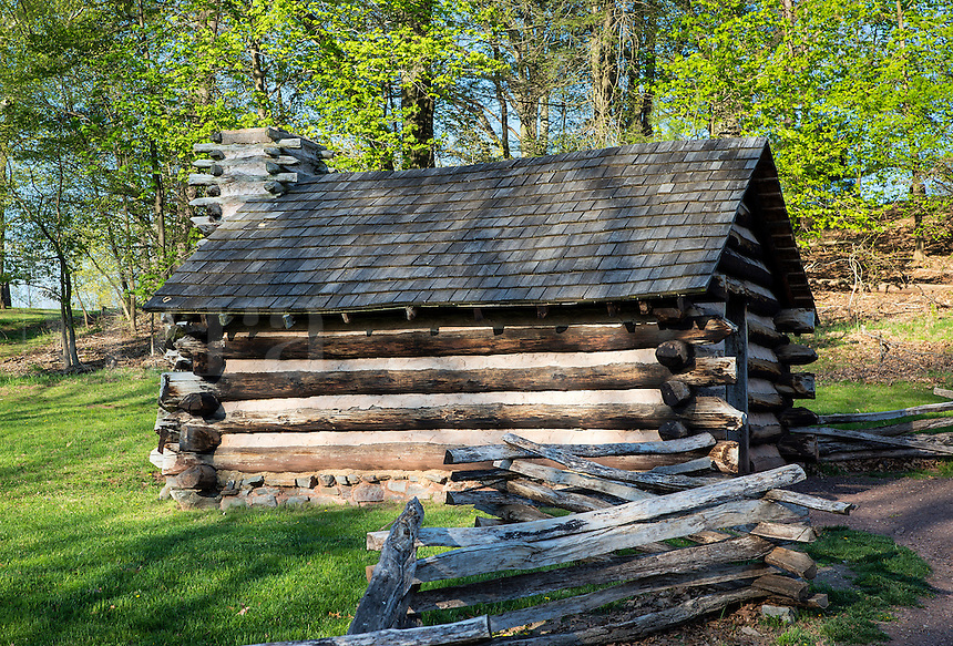 Cabins, Valley Forge National Historical Park, Pennsylvania, USA