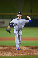 Salt River Rafters pitcher Chad Girodo (54) delivers a pitch during an Arizona Fall League game against the Mesa Solar Sox on October 24, 2015 at Sloan Park in Mesa, Arizona.  Salt River defeated Mesa 5-1.  (Mike Janes/Four Seam Images)