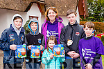 Jack Brosnan, Rian Brosnan, Rachel fitzgerald, Milly brosnan, Conor Brosnan and Ethan Fitzgerald at the Easter Egg hunt in Deenagh Cottage on Monday