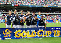 Chicago, IL - Sunday July 28, 2013:  USMNT starting eleven pose for a team photo during the CONCACAF Gold Cup Finals soccer match between the USMNT and Panama, at Soldier Field in Chicago, IL.