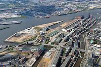 4415/Hafencity:EUROPA, DEUTSCHLAND, HAMBURG 21.05.2005:Hamburg, Innenstadt, Hafencity, Speicherstadt,  Luftbild, Luftansicht